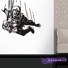 Skydive наклейка парашют автомобиля Наклейка Экстремальные виды спорта плакаты виниловые наклейки на стены Parede Декор Фреска Воздушный полет стикер