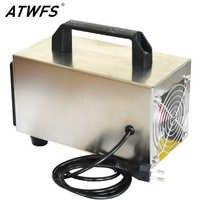 ATWFS generador de ozono 220V 24g purificador de aire máquina portátil Ozon limpiador ozonizador desinfección limpieza formaldehído