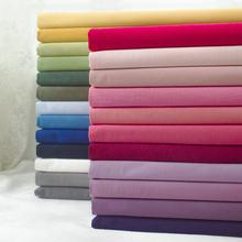 145x50cm cor sólida popelina tecido de algodão diy crianças usar pano fazer cama quilt decoração casa 160-180 g/m