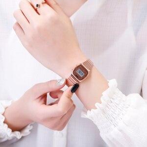 Image 4 - SKMEIแฟชั่นนาฬิกาผู้หญิงแบรนด์หรู 3Barกันน้ำสุภาพสตรีนาฬิกาขนาดเล็กDialนาฬิกาดิจิตอลนาฬิกาRelogio Feminino 1252