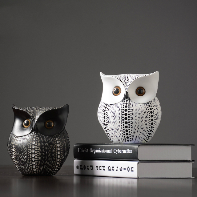 Nordic Home Decoration Accessories Modern Miniature Figurines Desk Decoration Owl Figurine Living Room Decoration Accessories 5