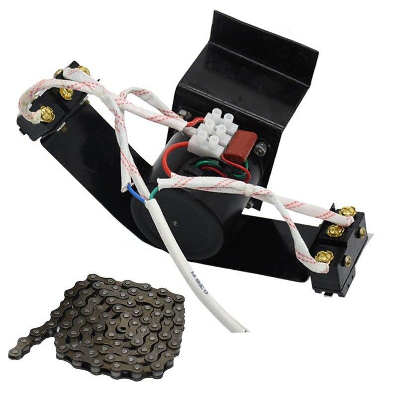 1 pces 220 v ou 110 v motor com engrenagens automático ovo girando o comprimento da corrente do sistema 100cm chick incubadora acessórios