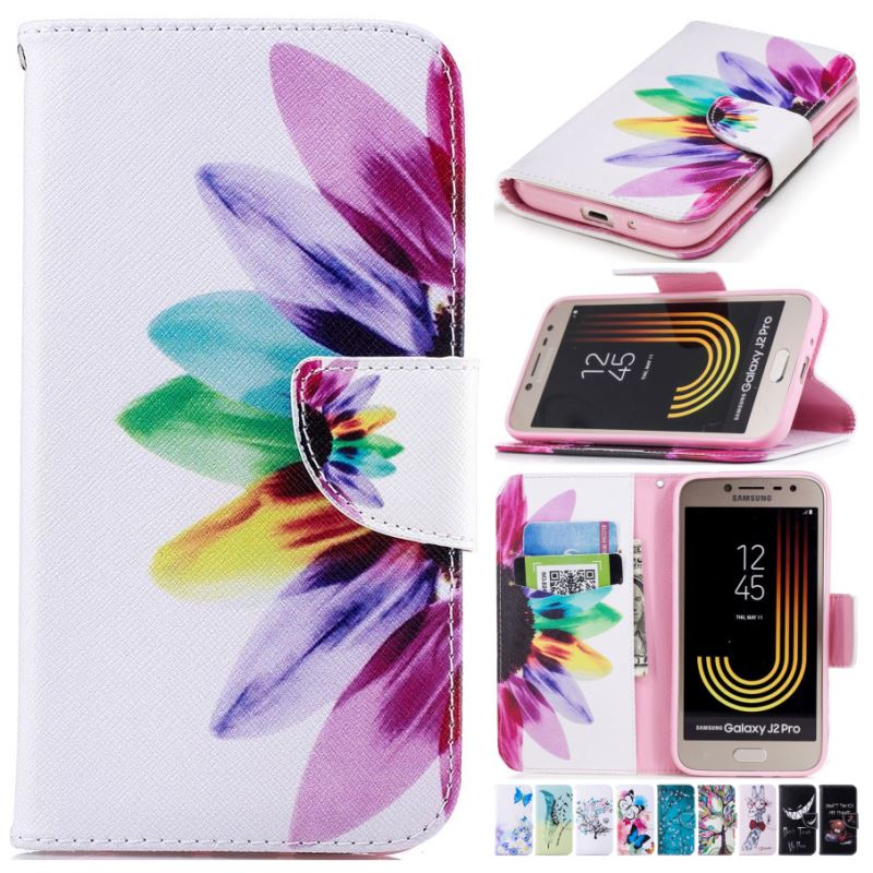 Phone Cover <font><b>Flip</b></font> Retro <font><b>Case</b></font> For <font><b>Samsung</b></font> Galaxy M20 M10 S9 S10E S10 Plus A3 A5 J3 J5 <font><b>J7</b></font> <font><b>2017</b></font> 2016 Card Wallet Leather Capa D07G image