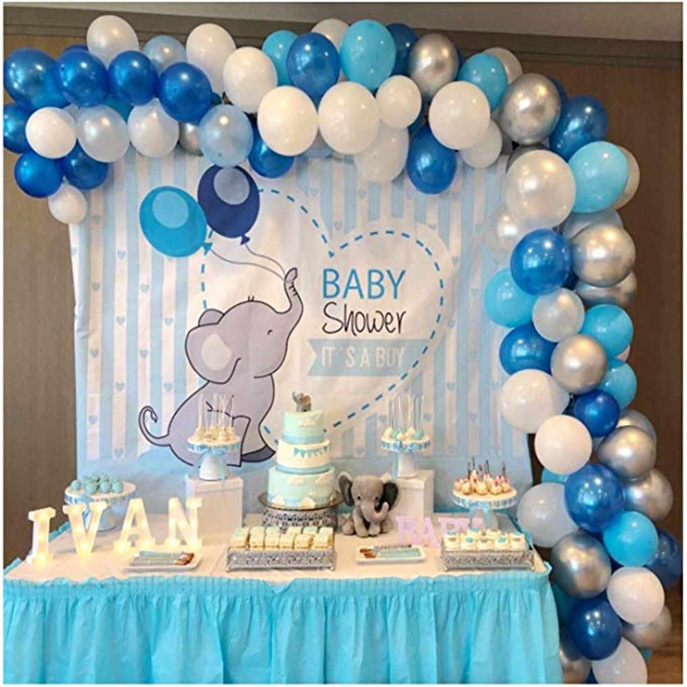 Kit De Arco De Globos Para Baby Shower Arco De Globos Para Bebé Color Azul Y Rosa Con Diseño De Elefante Para Decoración De Bautizo Y Fiesta De Cumpleaños De Chico Decoraciones Diy