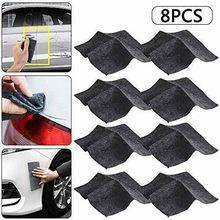 2/4/8 pçs nano brilho pano para arranhões do carro nano pano removedor de arranhões kit de reparação de riscos pano