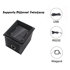 Image 3 - High quality  2D/QR/1D fixed mount scanner Wiegand RS485 USB RS232 for kiosk Vending access control turnstile parking lot