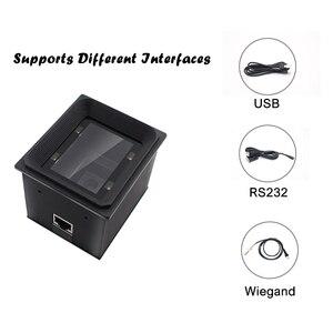 Image 3 - Yüksek kaliteli 2D/QR/1D sabit montaj tarayıcı Wiegand RS485 USB RS232 için kiosk erişim kontrolü turnike park yeri