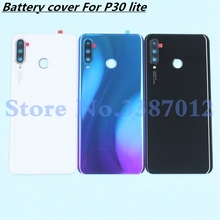 48MP Original Glass Rear Housing Cover For Huawei P30 lite Back Door Replacement Hard Battery Case Nova 4e + Adhesive Sticker