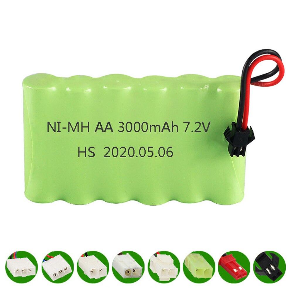 Аккумуляторная батарея AA Ni-MH 7,2 в 3000 мАч, батарея aa для дистанционного управления, электрическая игрушка, лодка, автомобиль, грузовик, 7,2 В 2400 ...