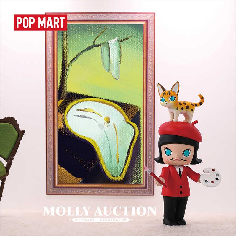 Popmart 1 pc molly série leilão brinquedos figura caixa cega figura de ação presente aniversário do miúdo brinquedo frete grátis