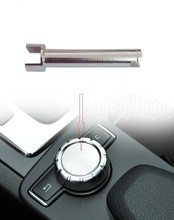 Controle de console de rádio e controle rotativo, botão de rolagem, reparo de eixo e botão para mercedes benz w204 x204 w212 w212