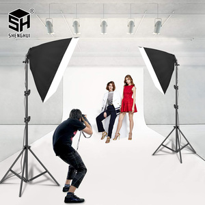 Image 5 - Photography 50x70CM Four Lamp Softbox Kit Continuous Lighting System Soft Box Accessories Photo Studio Equipment