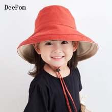 Рыбацкая шляпа детское ведро в Корейском стиле; Модная взрослая