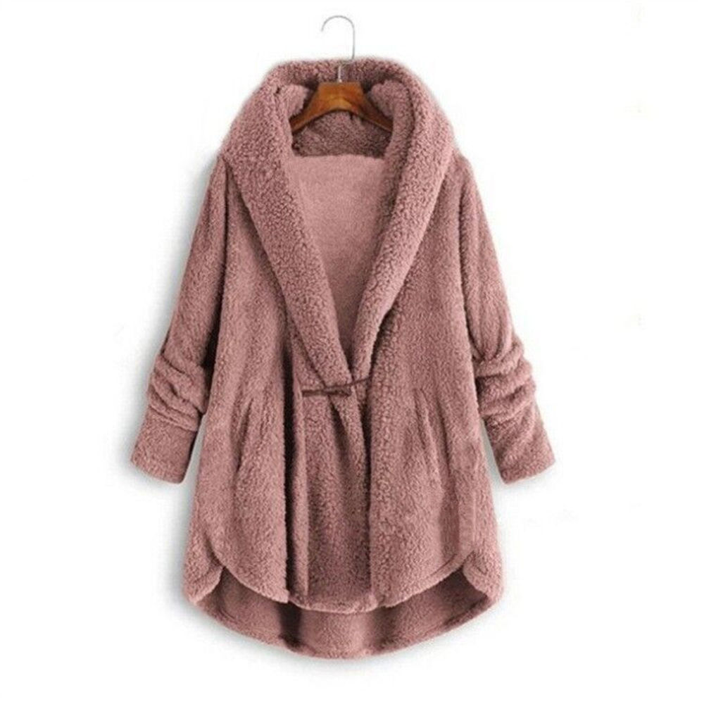 Women Luxury Faux Fur Teddy Fleece Sweater Oversized 5XL Sherpa Coat Fluffy Fleece Cardigan Warm Luxurious Sherpa Sweaters