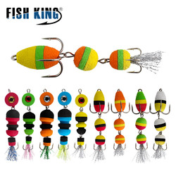 FISH KING Multi Jointed Fishing Lures With Jig Head Lead 7.5-9cm Artificial Bait Swimbait Bass Soft Lure Texas Group Wobbler