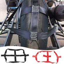 Universal Black Motorbike Transportation Tie Down Polyester Motorcycle Rear Wheel Fixing Fastening Webbing Belt Strap Auto Parts