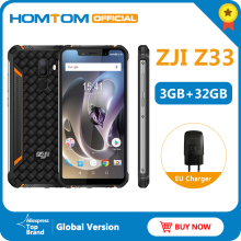 Original HOMTOM ZJI Z33 IP68 Waterproof Phone Android 8.1MTK6739 3+32GB 4600mAh