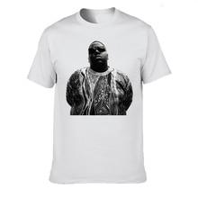 Nuevo BIGGIE SMALLS Notorious Big T camisa de los hombres casuales de algodón de cuello redondo Cool Vintage camiseta Harajuku Streetwear nuevas Camisetas para Hombre