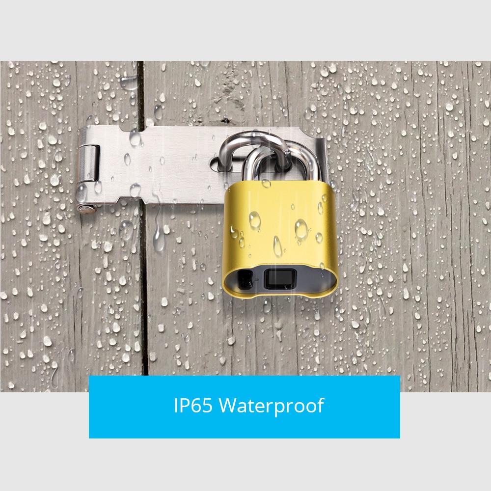 Image 5 - Smart Keyless Bluetooth Fingerprint Lock IP65 Waterproof Cerradura Anti Theft Security Fingerprint Padlock Door Luggage Lock-in Electric Lock from Security & Protection