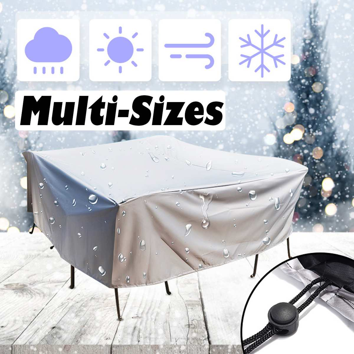 20Size Waterproof Outdoor Patio Garden Furniture Covers Rain Snow Chair Covers For Sofa Table Chair Dust Proof Protective Case