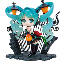 15cm Anime Hatsune Miku Lovely Street Lamp Q Version PVC Action Figures Collection Model Toys action figures toys kunkka lina pudge queen tidehunter cm fv pvc action figures collection dota2 toys