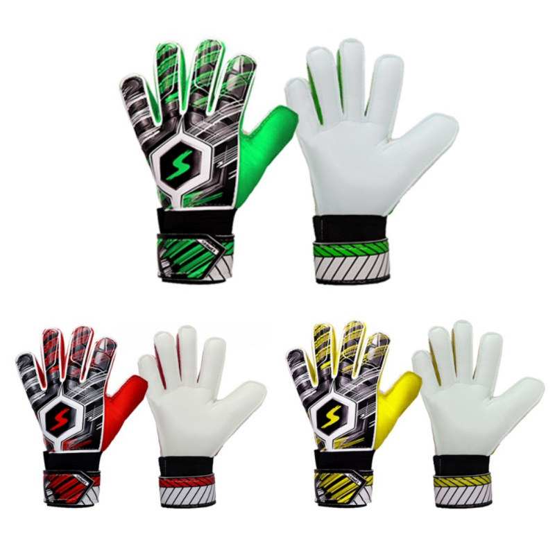 Football Protection Keeper Gloves Latex Kids Men's Soccer Gloves Professional Adult Goalie Training Secure GlovesZi