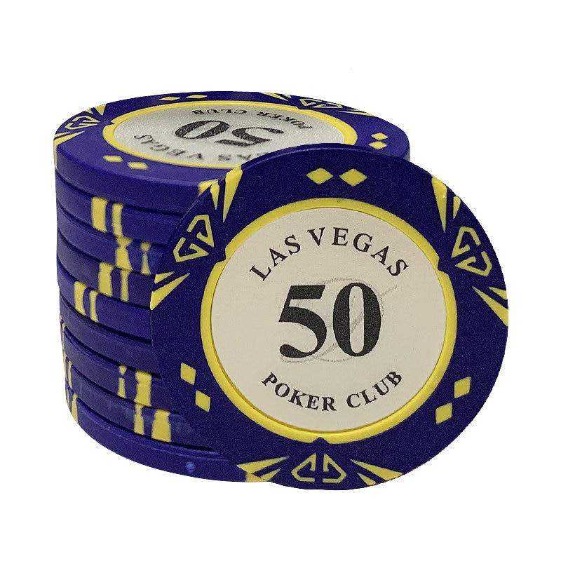 Las Vegas Poker Clay  Chip Custom Casino Poker Chips Texas Hold'em Poker Chips Dollar Coins Poker Club LasVegas 10pcs/lot