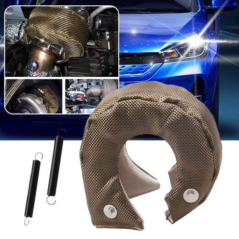 Universal Car  T3 Titanium Turbo Blanket Heat Shield Turbocharger Cover Turbo charger Cover Wrap Fit For  T2 T25 T28 GT30 T35