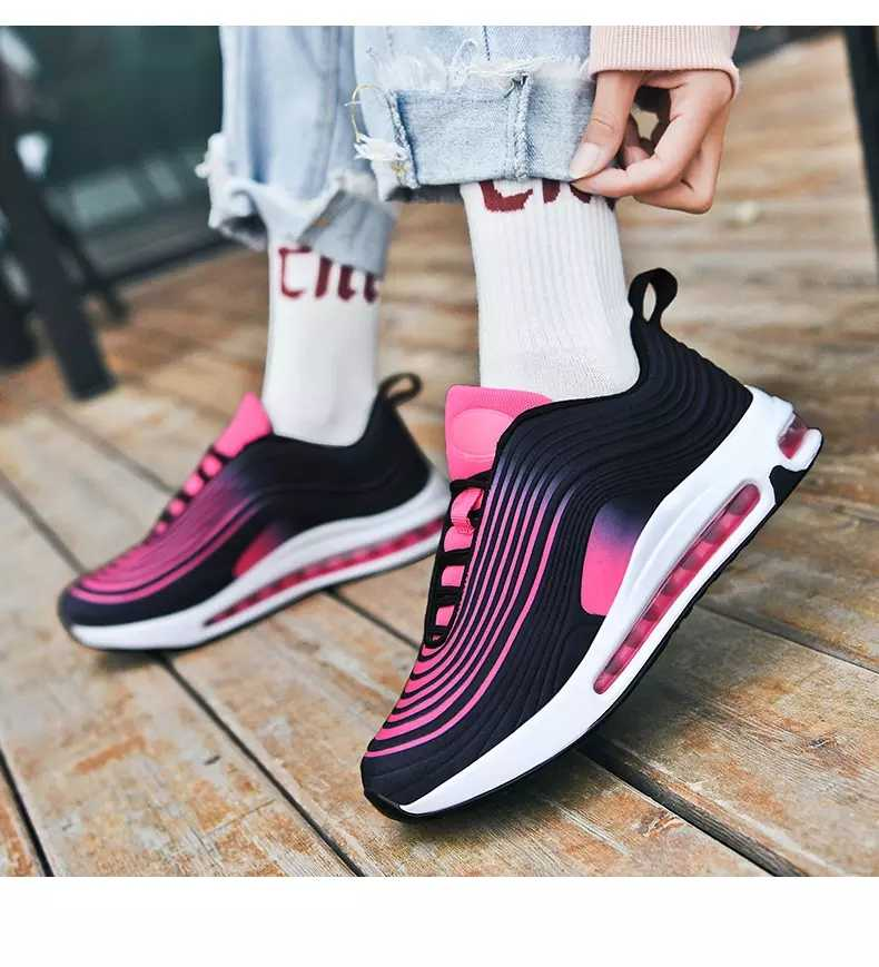 Men Sneakers Air Cushioning Jogging Shoes Breathable Full Palm Low Top Sports