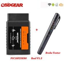 Elm327 V1.5 WIFI OBD2 PIC18F25K80 Chip Code Reader ULME 327 OBDII V1.5 Diagnose Tool Diesel/benzin AUF Android/ IOS Auto Scanner