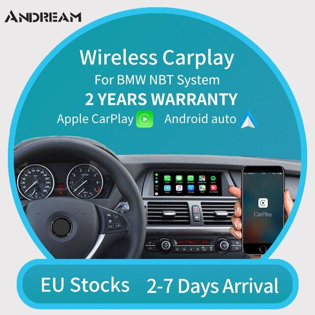 Bezprzewodowy Apple CarPlay z systemem Android Auto dla BMW NBT F10 F20 F30 X1 X3 X4 X5 X6 F48 F25 F26 F15 F56 MINI Series1 2 3 4 5 6 7 do odtwarzania
