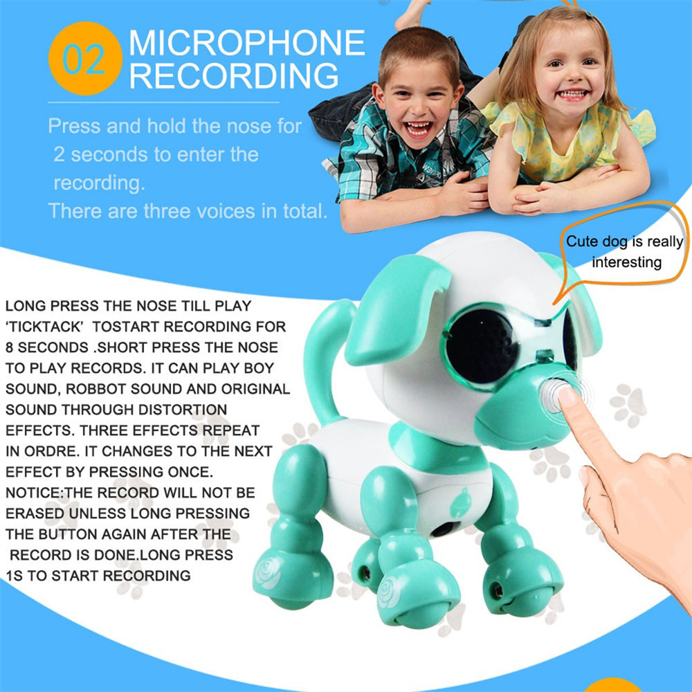 Electronic Pets Toys Children Smart Dog Nductive Touch Puppy Intelligent Robot Interaction Fun Playmate Sound Flexible Recording