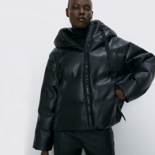 RR женские парки из искусственной кожи, модные пальто из искусственной кожи с капюшоном, элегантные женские хлопковые куртки на молнии