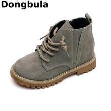 Los niños de invierno botas para niños 2020 de Niños de cuero genuino botas de nieve Zapatos Niño Niña Zapatos de invierno zapatos de Martin botas