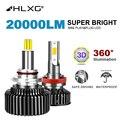 H7 светодиодный 360 лампы H4 9012 HIR2 светодиодный лампы H11 светодиодный автомобильный светильник 12V 9005 9006 светодиодный H8 H9 6000k Phares Авто 5000K 8000K 20000LM