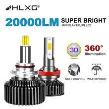 H7 LEVOU 360 Lâmpadas H4 9012 HIR2 12 H11 CONDUZIU a Luz Do Carro Lâmpadas LED 9005 V 9006 LED H8 H9 20000LM Phares Auto 5000K 8000K 6000k
