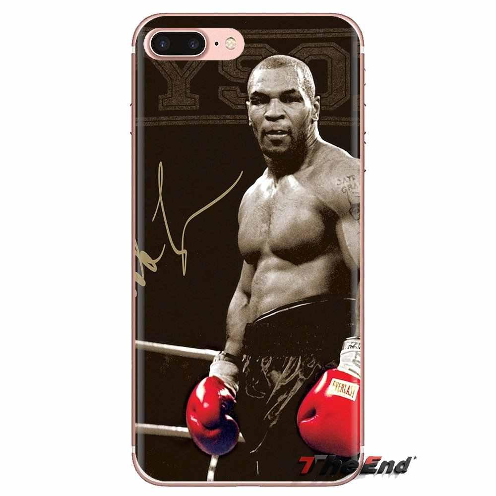 Para iPod Touch Apple iPhone 4 4S 5 5S SE 5C 6 6S 7 7 8 X XR XS Plus MAX suave transparente fundas cubiertas de boxeo rey Mike Tyson punch