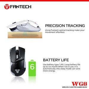 Image 2 - FANTECH WG8 2.4G ماوس لاسلكي 6 أزرار 2000 ديسيبل متوحد الخواص ماوس الألعاب ماوس لاسلكي مع USB استقبال فأرة للكمبيوتر المحمول