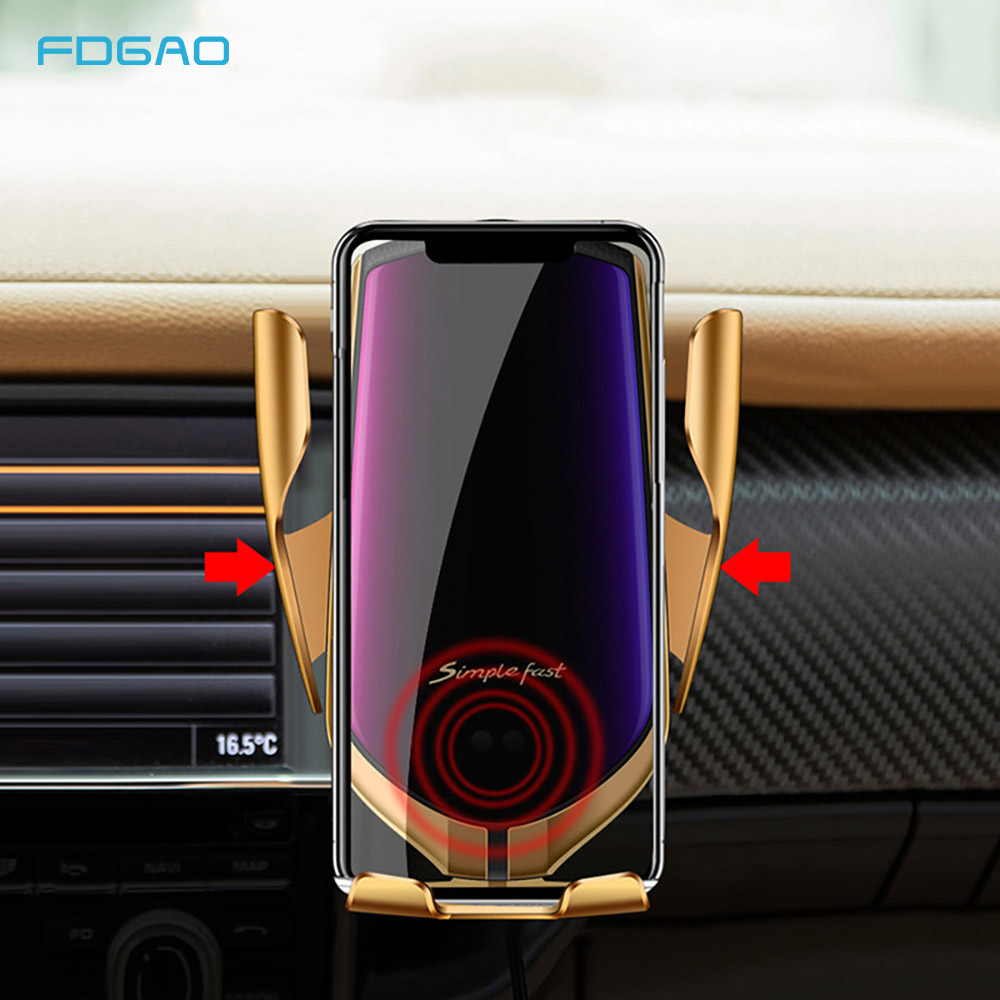 Qi Automatic Sense Car Wireless Charger for iPhone X XS Max XR 10W Fast Charging Phone Holder For Samsung S10 S9 S8
