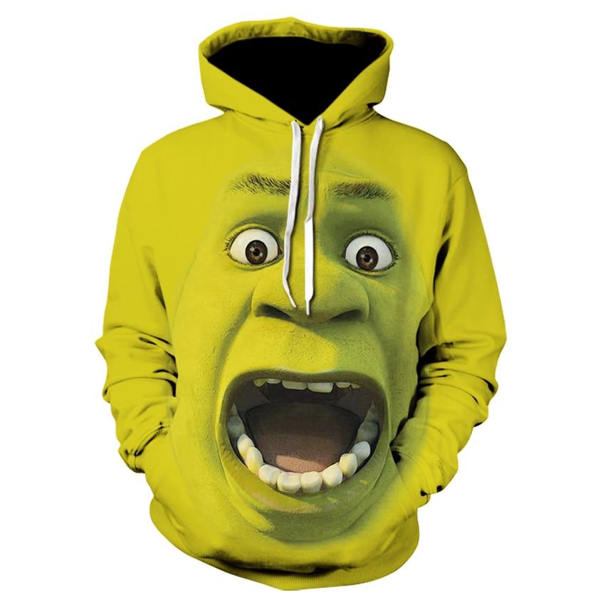 Men's Fashion Shrek/The Grinch 3d Hoodies Shrek Funny Hoodie Hip Hop Streetwear 3d Print Sweatshirts Long Sleeve Pullover Coats