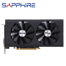 Видеокарты SAPPHIRE RX 470 4GB видеокарты GPU AMD Radeon RX 470D RX470 RX470D видеокарты компьютерная игровая карта HDMI PCI-E X16 не майнит