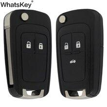 WhatsKey Top Quality Flip Folding Car Key Shell Case For Opel Vauxhall Vectra B Corsa D Zafira A Astra J Meriva G Mokka Insignia стоимость