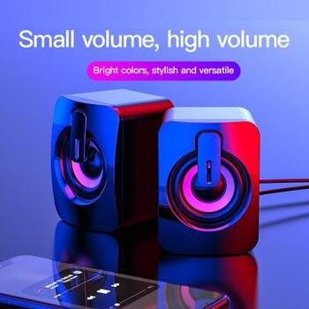 USB Computer Speaker Deep Bass Stereo Sound Music Player Speakers for Macbook Laptok Desktop Notebook Computer Loudspeaker 6