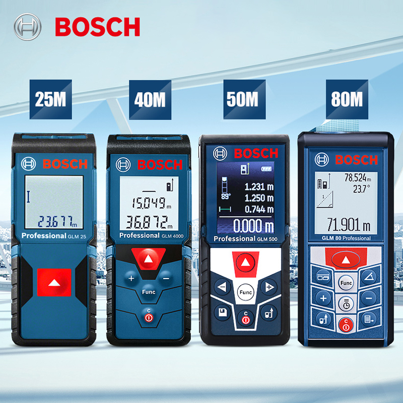 Bosch laser rangefinder infrared handheld high-precision laser measuring instrument 25 30 40 50 80 meters IP54 waterproof