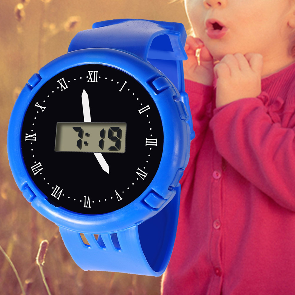 Fashion Kids Casual Electronic Watch Children Comfortable Silicone Sports Watches Fluorescent Watches HSJ88