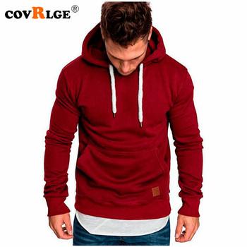 Covrlge-Męska bluza z długim rękawem MWW144 wiosenna lub jesienna na co dzień bluzy z kapturem bluzka chłopięca dresy dla mężczyzn tanie i dobre opinie CN (pochodzenie) Pełna Stałe REGULAR men hoodies Brak STANDARD Poliester NONE Hoodies Sweatshirts Black Armygreen Khaki Redwine Lightgray Darkgray Navy