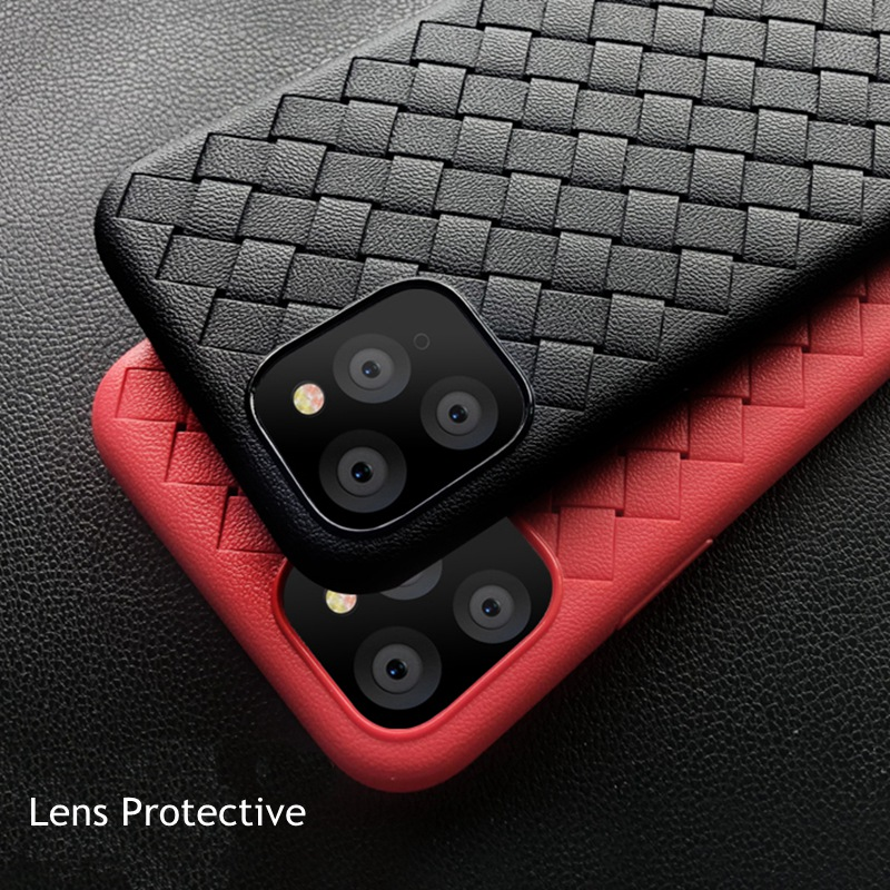 Weave Leather Pattern TPU Cases for iPhone 11/11 Pro/11 Pro Max 17