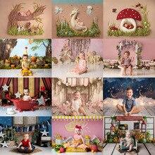 Mehofond recém nascido pano de fundo rosa flor recém nascido chuveiro do bebê festa de aniversário retrato fotografia fundo photo studio decoração