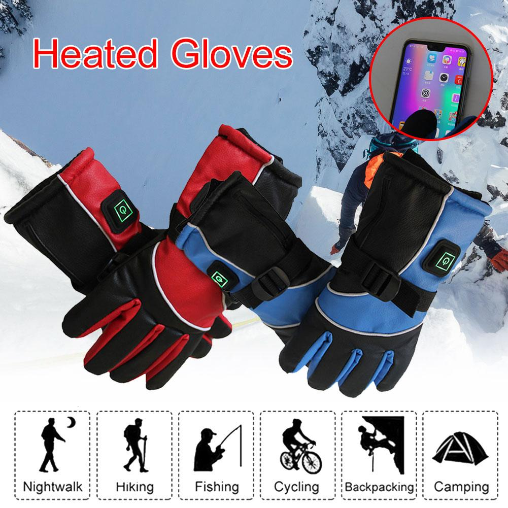 3000 MAh Electric Gloves USB Electric Motorcycle Heating Gloves Lithium Battery Charging