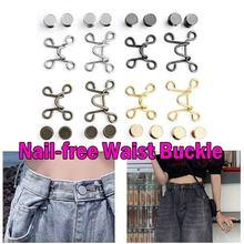 27/32MM Nail-free Cintura Fivela Cintura Artefato de Fechamento Botão de Pressão Ajustável Removível Destacável Roupas de Costura Da Calça ferramenta